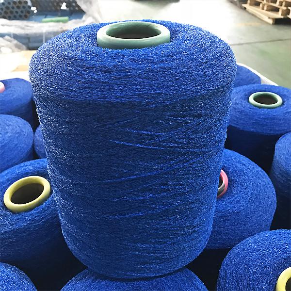blue color grass yarn
